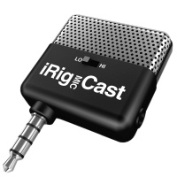 IK Multimedia iRig Mic Cast Compact Voice Recording Mic For iPhone, iPad & iPod