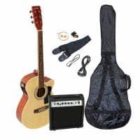 Johnny Brook Electro Acoustic Guitar Starter Kit (Natural)