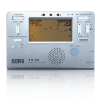 Korg TM-60 Limited Edition Combo Tuner/Metronome - Silver