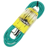 Livewire 6m Jack to Angled Jack Guitar Lead - Green Instrument Cable