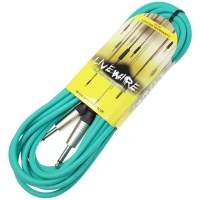 Livewire 6m Jack to Jack Guitar Lead - Green Instrument Cable