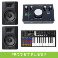 M-Audio Code 25 Studio Bundle with Monitors & Interface