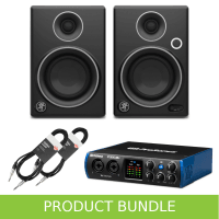 Mackie CR3 Limited Edition and PreSonus 24C and Cables Bundle