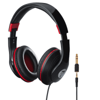 Monacor MD-390 Black and Red Stereo Multi-Purpose Headphones