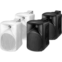 Monacor PAB-58 White 2-Way High-Quality PA Speakers, 30W, 8 Ohm (Pair)