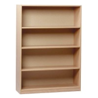 Monarch Open Bookcase, 1 Fixed & 2 Adjustable Shelves 1250mm