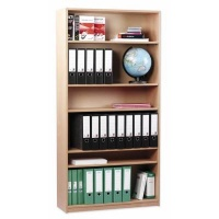 Monarch Open Bookcase, 1 Fixed & 4 Adjustable Shelves