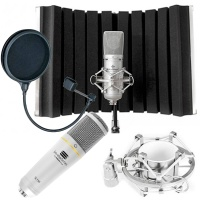 Editors Keys Portable Vocal Booth Flex Bundle - SL150 USB Mic & Pop Filter