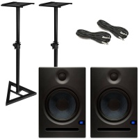 Presonus Eris E8 Studio Speakers plus Stands Bundle