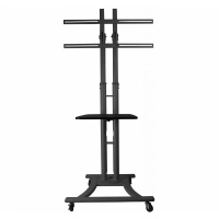 "Pulse 37""- 60"" LCD/ Plasma Trolley with shelf"