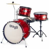 Stagg 3-Piece Junior Drum Kit with Hardware - Red