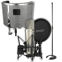 Tannoy TM1 Condenser Microphone, Stand & Vocal Booth Bundle
