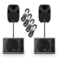 "Wharfedale Pro AX12 12"" Active PA Speakers + SUB12A Subwoofers (Pair)"
