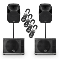 "Wharfedale Pro AX15 15"" Active PA Speakers + SUB12A Subwoofers (Pair)"