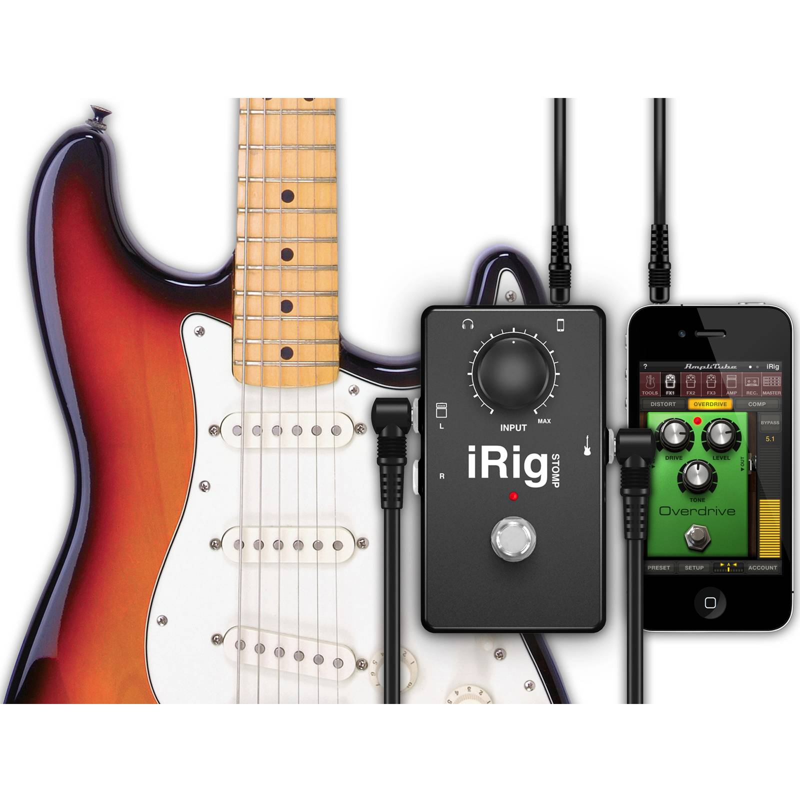 iphone guitar interface ik multimedia irig stomp guitar stomp box interface for 6630