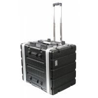 "Pulse ABS-8UTR 19"" 7U ABS Flight Case Trolley"