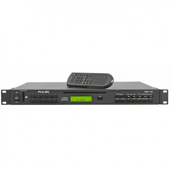 pulse dmp 100 1u rackmount cd player with sd usb mp3 pulse from inta audio uk. Black Bedroom Furniture Sets. Home Design Ideas
