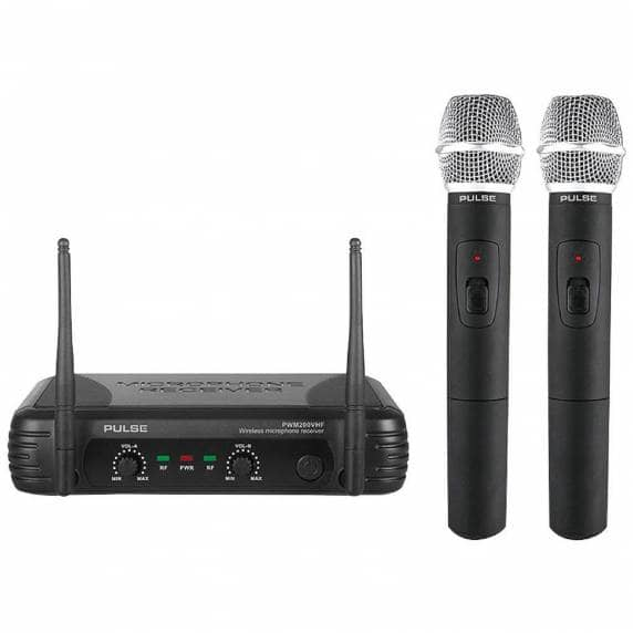 Pulse PWM200 VHF Dual Handheld Wireless Microphone System