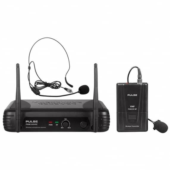 Pulse VHF Wireless Lavalier and Headset Microphone System - 174.5MHz