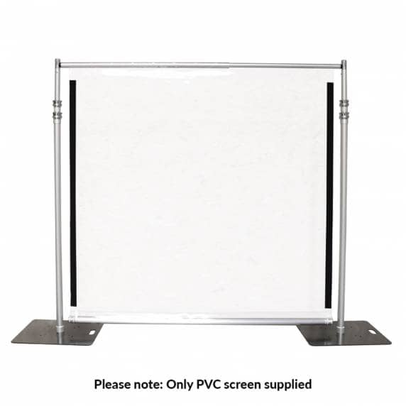 PVC Protection Screen 2 x 2m Transparent Shield