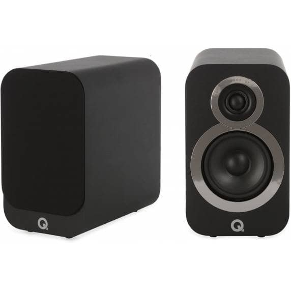 Q Acoustics 3010i Compact Bookshelf Speakers - Carbon Black
