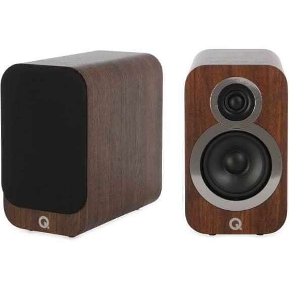 Q Acoustics 3010i Compact Bookshelf Speakers - English Walnut