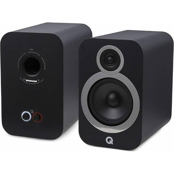 Q Acoustics 3030i Bookshelf Speakers - Carbon Black