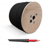QED QX16/2 - 2 Core Outdoor Speaker Cable - Black (Per Metre)