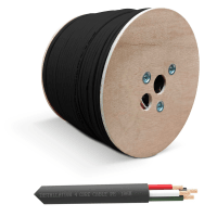 QED QX16/4 - 4 Core Outdoor Speaker Cable - Black (300m Drum)
