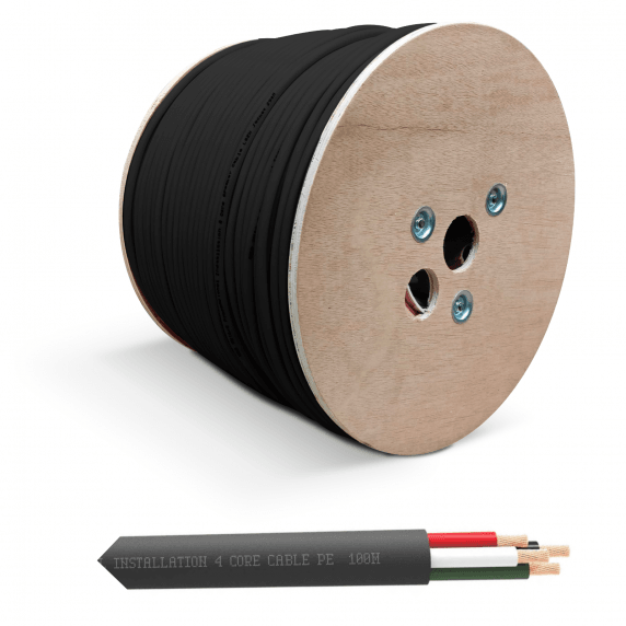 QED QX16/4 - 4 Core Outdoor Speaker Cable - Black (50m Cut)