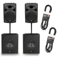 QTX 1800W Active PA Speaker System