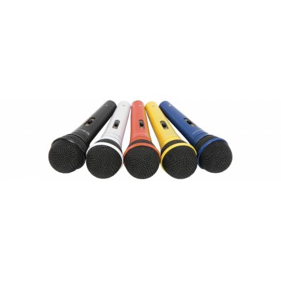 QTX Dynamic Handheld Vocal Microphones - Set of 5 Colours