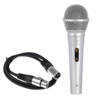 QTX Handheld Dynamic Vocal Mic with 3m XLR Cable (Silver)