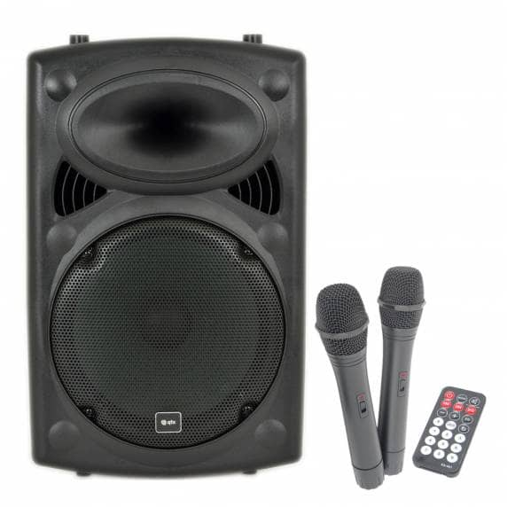 QTX QR12PA Portable PA System with 2 Wireless Microphones (200W)