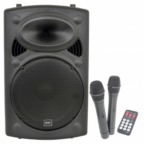 QTX QR15PA Portable PA System with 2 Wireless Microphones (250W)