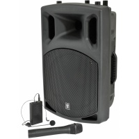 QTX QX12 AV Portable PA with Wireless Mic / Bodypack (400w Max) - B-STOCK