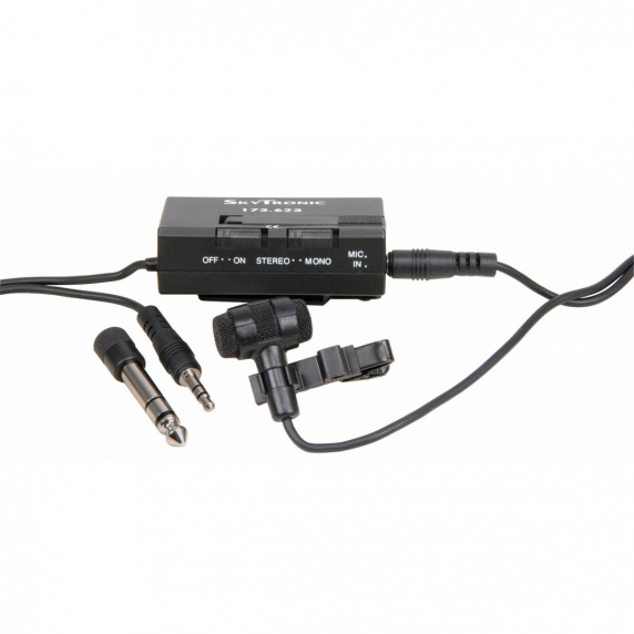 QTX Stereo Condenser Tie-Clip Microphone