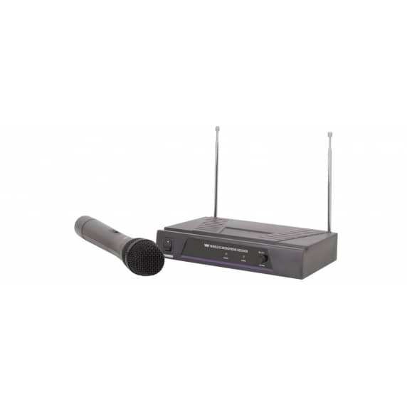 QTX Wireless 173.8MHz VHF Microphone System with Receiver and Transmitter