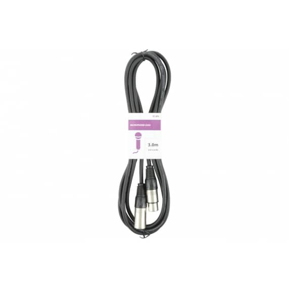 QTX XLR-to-XLR Cable (Male to Female) - 3m