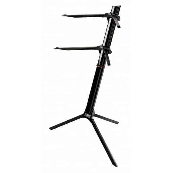 Quik Lok 'Slim' BLACK Aluminium Dual-Tier Keyboard Slant Stand – SL/911ALUBK