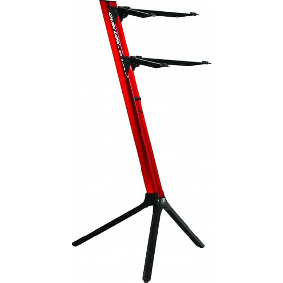 Quik Lok 'Slim' RED Aluminium Dual-Tier Keyboard Slant Stand – SL/911ALURE