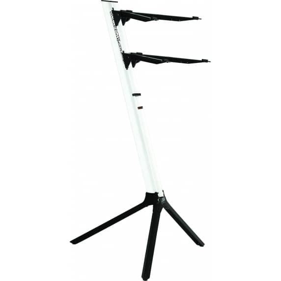 Quik Lok 'Slim' WHITE Aluminium Dual-Tier Keyboard Slant Stand – SL/911ALUWH