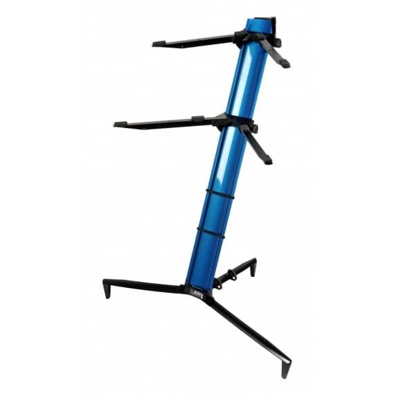Quik Lok 'Tower' BLUE Aluminium Dual-Tier Keyboard Slant Stand – SL/913ALUBL