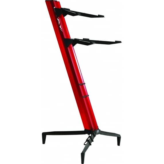 Quik Lok 'Tower' RED Aluminium Dual-Tier Keyboard Slant Stand – SL/913ALURE