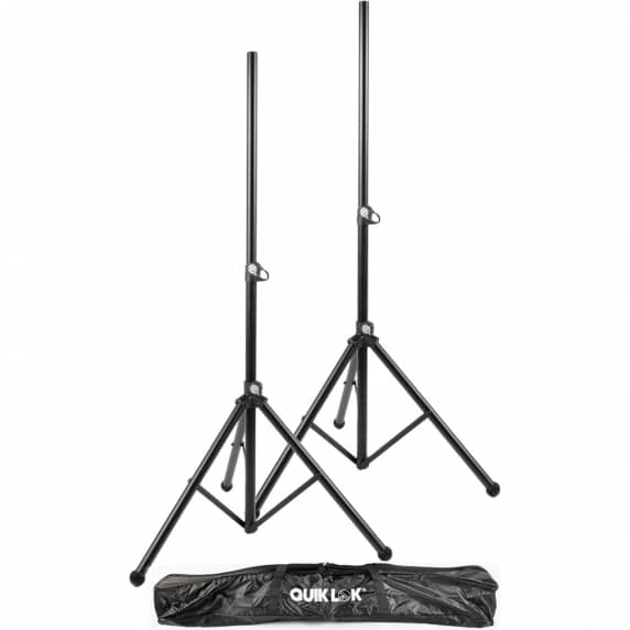 QuikLok S171PAK-BB Tripod Speaker Stands Pair + Bag