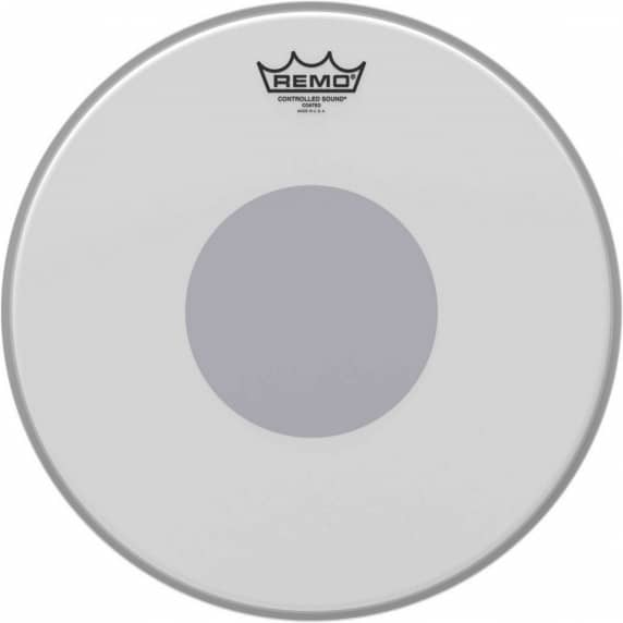"""Remo 14"""" Controlled Sound Coated Batter head with Black Dot"""