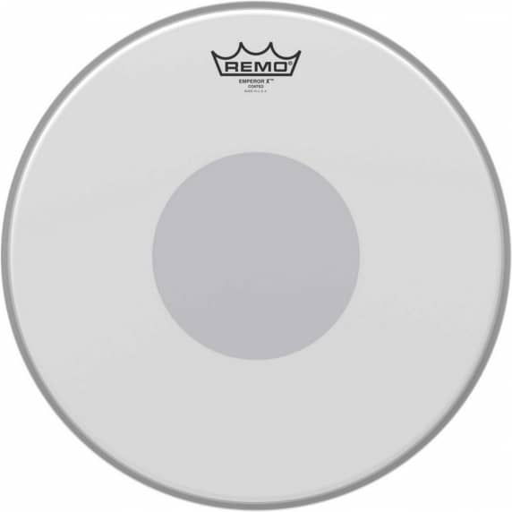"Remo 14"" Emperor X Coated Head with Black Dot"