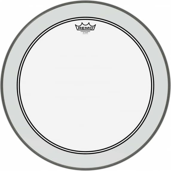 "Remo 22"" Powerstroke 3 Clear Bass drum head with Clear Dot"