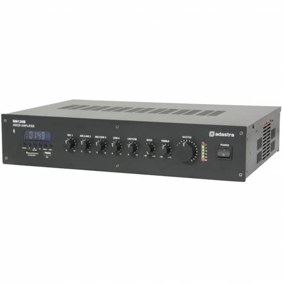RM120B 5 channel 100V Mixer Amp with Bluetooth