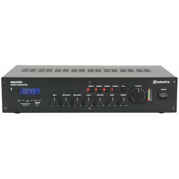 RM240B 5 channel 100V Mixer Amp with Bluetooth